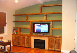 custom wall shelving unit