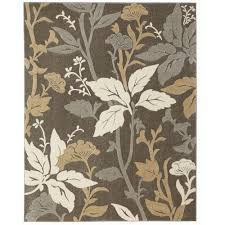 home decorators collection blooming flowers gray 5 ft 3 in x 7