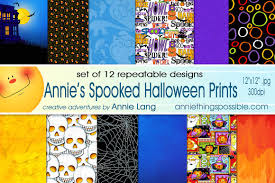 repeatable halloween background annie u0027s spooked halloween prints patterns on creative market