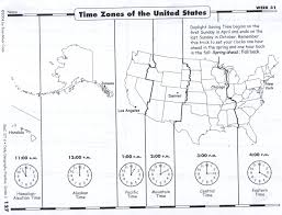 Time Zone Map United States by Monday April 14 2014