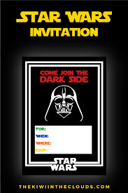 Free Printable Birthday Invitation Cards With Photo Come Join The Dark Side Free Printable Star Wars Birthday Party