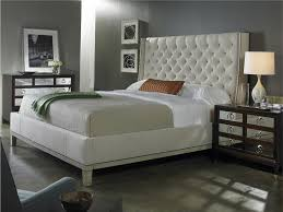 Dream Of Elegant Tufted King Bedroom Set Editeestrela Design - White tufted leather bedroom set
