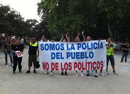 policia y manifestaciones
