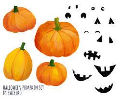 halloween clipart pumpkin watercolor pumpkin halloween clipart digital watercolour scary
