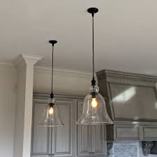 pretty kitchen mini pendant lighting fiture with clear glass