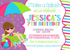 Happy Birthday Invitation Card Template Awe Inspiring Birthday Pool Party Invitations Which Is Viral Today