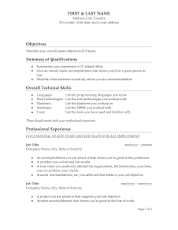 Cover Letter For Resume Examples For Students by Great Objectives For Resumes 4 Good Objective Resume Samples