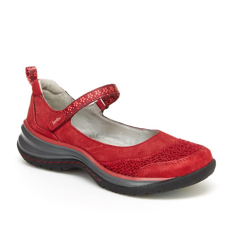 Jambu Cornflower Comfort Mary Jane Style Shoe Red 8 / Red