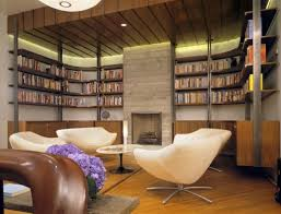 Home Library Lighting Design by Room Library Modern White Home Library Design With Furniture