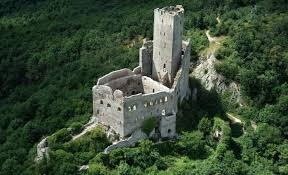 Small Castle by L U0027ortenbourg France Placed Atop A Small Granite Mountain This