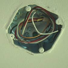 Ceiling Electrical Box by Hanging A Chandelier And Installing A Ceiling Medallion