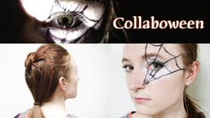 halloween hair idea spider bun and web makeup youtube