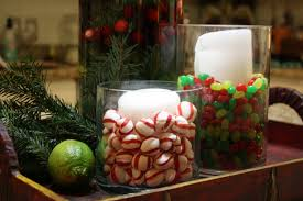 Decorative Glass Vases Decorative Glass Vases With Sweets And Candles Plus Artificial