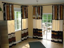 appealing window curtains design with enjoyable scalloped floral