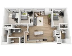 3 Bedroom Apartment Floor Plan Floor Plans Skyvue Apartments
