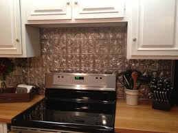 Kitchen Top Notch Kitchen Decoration Design Ideas Using Black Tin - White tin backsplash