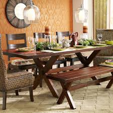 Nolan Extension Tuscan Brown Trestle Table Pier  Imports - Pier one dining room sets
