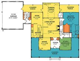 House Plans With 3 Car Garage by Country Style House Plan 4 Beds 3 00 Baths 2252 Sq Ft Plan 20 2041