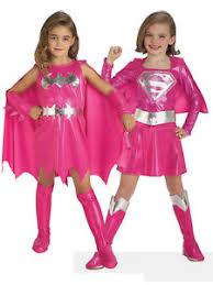 Supergirl Halloween Costume Pink Batgirl Supergirl Superhero Fancy Dress Kids Toddler