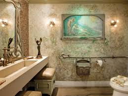 deco nature chic transitional bathrooms hgtv