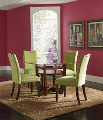 dining room brown wood lacquered wood dining room set with white