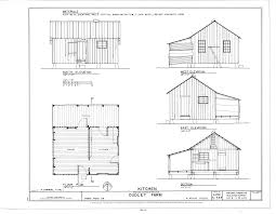 Open Floor Plan Farmhouse File Kitchen Elevations Floor Plan And Section Dudley Farm