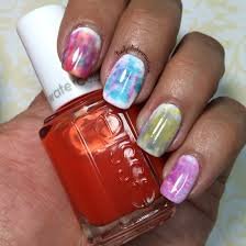 essie silk watercolors review tutorial the polished pursuit