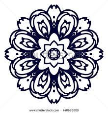 Indian Flower Design Stencil Mandala Indian Design Stock Vector 56435944 Shutterstock