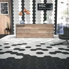 black hexagon tile full image for white and black hex tile