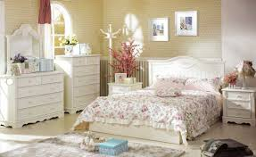 charming bedroom design with unique wallpaper art and high