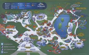 San Antonio Texas Map Theme Park Brochures Sea World San Antonio Theme Park Brochures