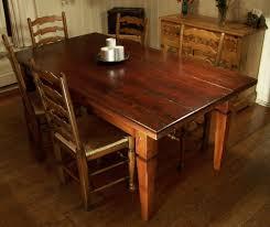 Wood Dining Room Heirloom Workshops Reclaimed Wood Dining Table Tapered Legs