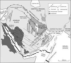 Tectonic Plate Map The Qatar U2013south Fars Arch Development Arabian Platform Persian