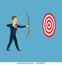 black friday archery target businessman doing perfect hit arrow target stock vector 401412262