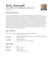 Banker Resume Example by Investment Banking Resume Samples Visualcv Resume Samples Database