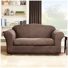 Leather Sofas At Dfs by Amazon Com Sure Fit Stretch Leather 2 Piece Sofa Slipcover