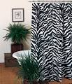 Zebra Shower Curtain Set