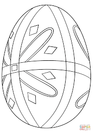 pysanka easter egg coloring page free printable coloring pages