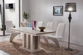 fancy design white marble dining table set all dining room