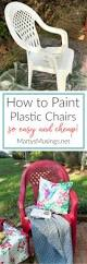 Spray Painting Metal Patio Furniture - how to spray paint plastic chairs an easy makeover painting