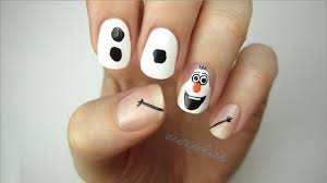 disney frozen nail art olaf youtube