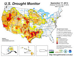 Drought Map Usa by 19 September 2013 Coyote Gulch