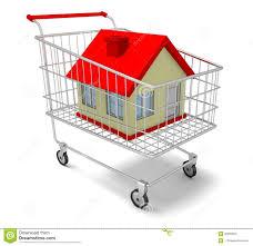 hous in shopping cart stock illustration image 45990816