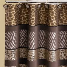 popular bath products safari stripes shower curtain chocolate