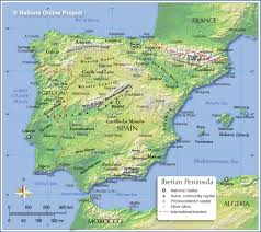 Spain Political Map by Topographic Map Of Spain Nations Online Project