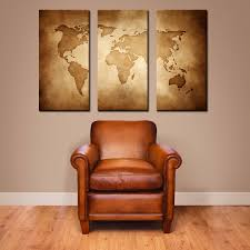 World Map Canvas by Canvas Vintage World Map Large Canvas Art Large Wall