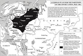 Former Soviet Union Map A German Plan For The Partition Of The Soviet Union From 1941