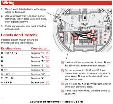 honeywell thermostat wiring instructions diy house help