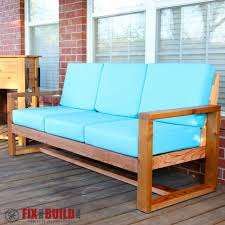 Modern Outdoor Sofa by Ana White Modern Outdoor Sofa Diy Projects