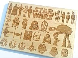 Cool Cutting Boards Stars Wars Celebration Edition Handcrafted Wooden Cutting Board